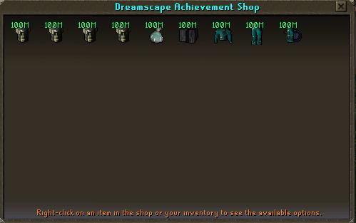 Dreamscape Achievement Shop