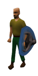 Ancient Wyvern Shield Equipped