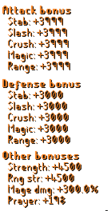 Musketeer Set Stats
