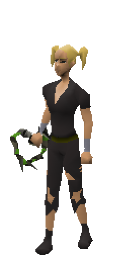 Abyssal Whip (green) Equiped