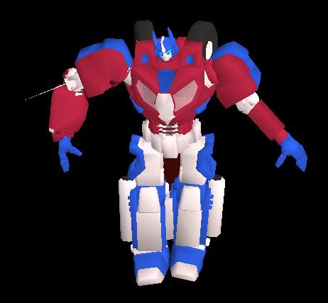 Optimus Prime Pet Equipped