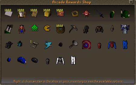 Arcade reward shop