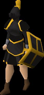 Black Gold Trimmed Set (Sk) Equipped