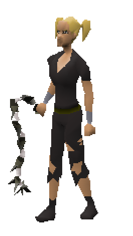 Abyssal Whip (white) Equiped