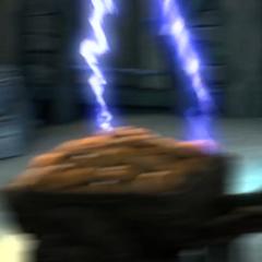 Toothless blasting Meatlug.