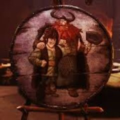 Hiccup in Bucket's painting.