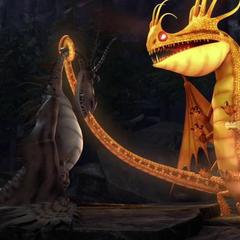 The Fireworm Queen reviving Hookfang