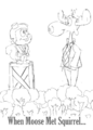 Rocky and Bullwinkle When Moose Met Squirrel Drawing Poster.png