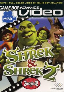 GBA Video Shrek 1 & 2 for Nintendo Gameboy Advance
