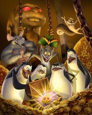 Pingwiny z Madagaskaru – Skarb Złotego Wiewióra