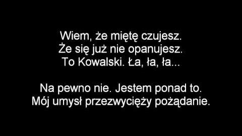 (Polish) Penguins of Madagascar - The Kowalski Lyrics