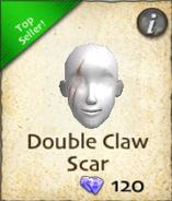 Double claw scar