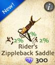 Rider's Zippleback Saddle