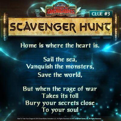 Scavenger Hunt third clue