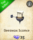 Beeswax Sconce