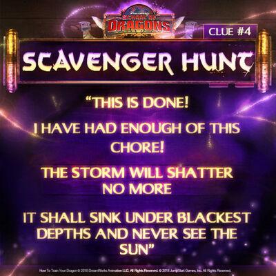 Scavenger Hunt fourth clue