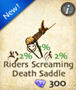 Riders Screaming Death Saddle