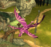 Player gliding on geyser