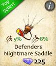 Defenders Nightmare Saddle