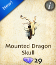 Mounted Dragon Skull