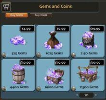 Gem price