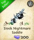 Sleek Nightmare Saddle