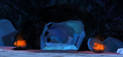 Icestorm cave entrance