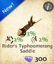 Rider's Typhoomerang Saddle