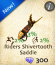 Riders Shivertooth Saddle