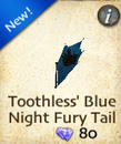 Toothless' Blue Night Fury Tail