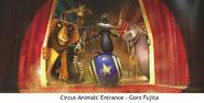 The Art of Madagascar 3 - Circus Animals' Entrance, Goro Fujita
