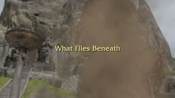 What Flies Beneath title card
