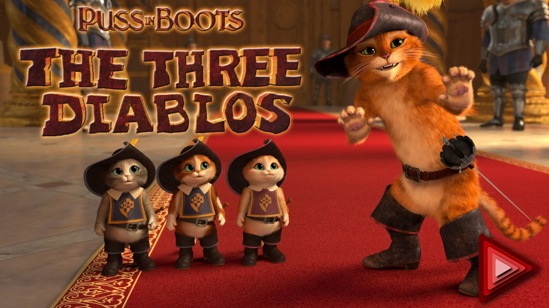 puss in boots the three diablos cast