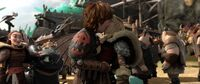 Astrid and Hiccup kissing HTTYD2