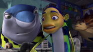 Oscar deciding to save Angie from the Shark Mob
