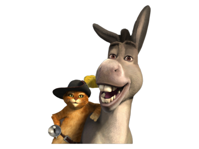 Donkey And Puss In Boots