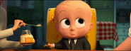 Boss Baby looking at Ted