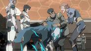 Keith, Allura, Coran, Commander Iverson and Cosmo