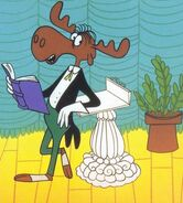 Bullwinkle The Moose Mr. Know It All reads poems