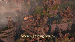 When Lightning Strikes title card