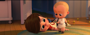 Boss Baby with his money