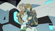 Pidge, Matt and Sam goodbye to each other