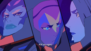 Acxa, Ezor and Zethrid hear the message of Zarkon