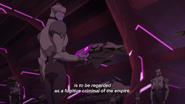 Galra Soldiers hear the message of their emperor