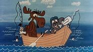Rocky and Bullwinkle a message in a bottle