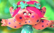 Poppy with purple spots