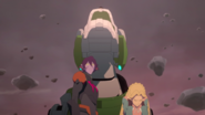 Krolia, Romelle and Green Lion