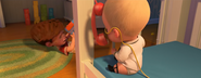 Boss Baby with toy phone