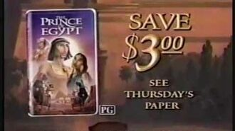 The Prince of Egypt VHS Release Ad 2 (1999)