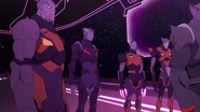 Thace with Galra Commanders